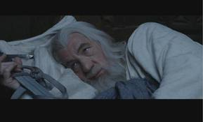 Which means we don't learn that Gandalf sleeps with his eyes open.